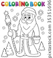 Coloring book Father Frost theme 1 35351696