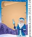 Father Frost theme parchment 1 35351719
