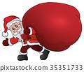 Santa Claus with big gift bag theme 1 35351733