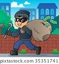 thief, man, stealing 35351741