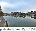 파리 뽄데자루에서 볼 시테 섬과 퐁 뇌프 새벽 35352150