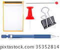 Different stationery items 35352814