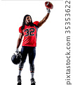 american football player man isolated 35353622