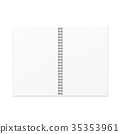 Vector open blank notebook template. 35353961