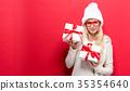 woman, christmas, gift 35354640