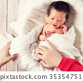 baby, boy, lying 35354751