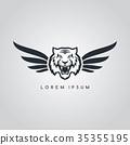 tiger aviator symbol logo logotype theme 35355195