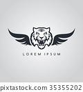 tiger aviator symbol logo logotype theme 35355202