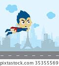 cartoon superhero game asset theme hero vector art 35355569