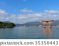 Otorii of Hiroshima Itsukushima Shrine 35356443