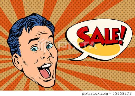 head pop art style sale man 35358275
