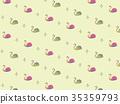 수채화 풍 스완 패턴 배경 소재 B yellow 35359793