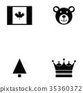 canada icon set 35360372