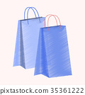 flat shading style icon paper bags 35361222