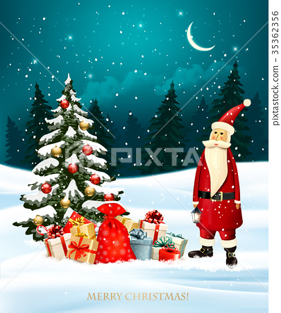 Christmas holiday background with gift boxes  35362356