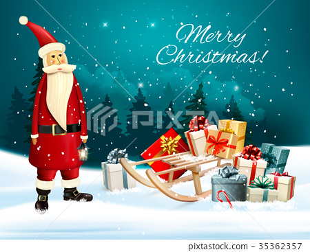 Christmas holiday background with presents  35362357