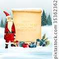 Holiday Christmas background with Santa Claus 35362362