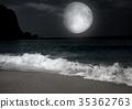 moon in the night sky 35362763