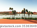 Beautiful natural background -African oasis 3d 35363649