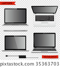 Set of laptops in different positions 35363703