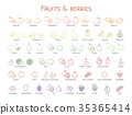 水果 图标 一组 35365414
