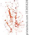 Splatters, splinter, blots and blobs of paint 35365628