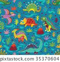 pattern, dinosaur, animal 35370604