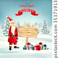 Christmas holiday background with Santa Claus 35371913