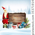 Holiday Christmas background with Santa Claus 35371914