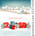 Winter christmas holiday background 35371920