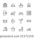 icon, set, hotel 35372256
