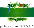 Tropical island circlet of beautiful plants 35372315