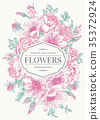 Wedding card with flowers. 35372924