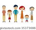 Three generation family whole body no overlap 35373686