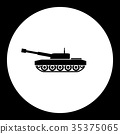 armored army tank simple black icon eps10 35375065