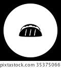 tortilla mexico fast food simple black icon eps10 35375066
