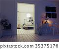 室内装饰 卧室 时尚 35375176