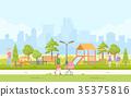 vector, modern, playground 35375816