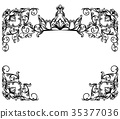 frame, crown, vector 35377036