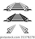 steel train rail track profile symbol 35378278