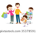 family shopping characters 35378591