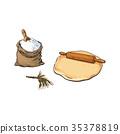 rolling pin dough 35378819