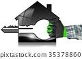 house, model, key 35378860