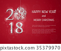 2018 Happy New Year Background 35379970