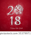 2018 Happy New Year Background 35379971