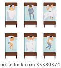 Man Sleeping Poses Set 35380374