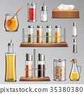 Seasoning Spices Realistic Set Transparent   35380380