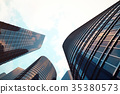 Low angle view of skyscrapers. Skyscrapers at 35380573