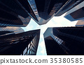 Low angle view of skyscrapers. Skyscrapers at 35380585