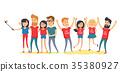 best friends vector 35380927